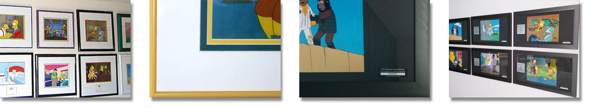 Framing Simpsons Cels
